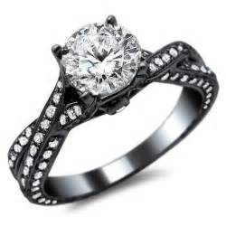 white gold black engagement ring pave engagement ring 14k in black gold engagement rings review