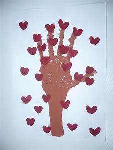 handprint tree of hearts family crafts