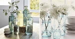 que faire avec des bouteilles et des bocaux photos With idee deco cuisine avec objet deco en verre
