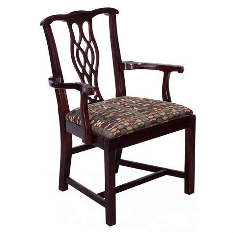 bernhardt eaton square used wooden arm chair mocha