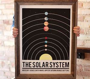 The Solar System hand pulled large screen by IScreenYouScreen