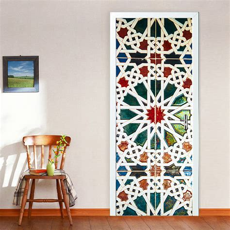 stickers porte chambre aliexpress com buy color kaleidoscope glass door