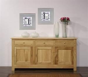 Buffet En Chene : buffet 3 portes yann en ch ne massif de style campagnard finition ch ne naturel cir meuble en ~ Teatrodelosmanantiales.com Idées de Décoration