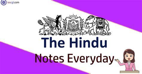 hindu notes april important articles iascglcom