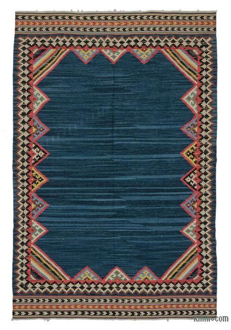 turkish kilim rugs k0021087 blue new turkish kilim rug