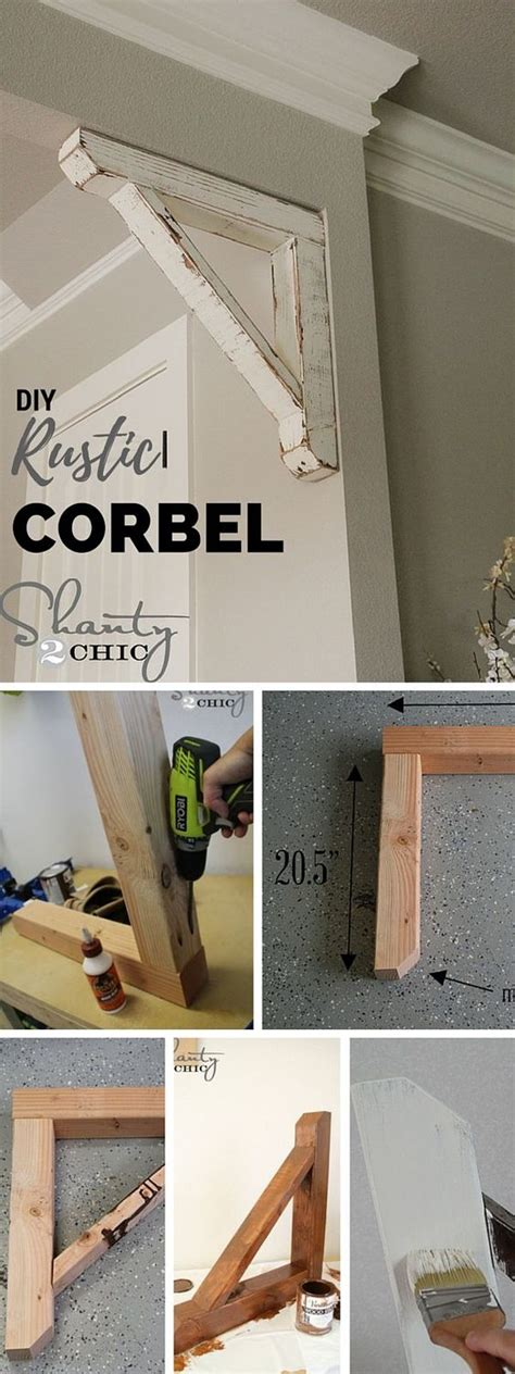 Diy Wood Corbels by 30 Cheap And Creative Diy Home Decor Projects Using