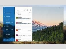 Microsoft Windows 10 Mail Fluent Design update adds