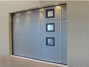 porte de garage avec porte interieure avec hublot porte With porte de garage avec porte décorative intérieure