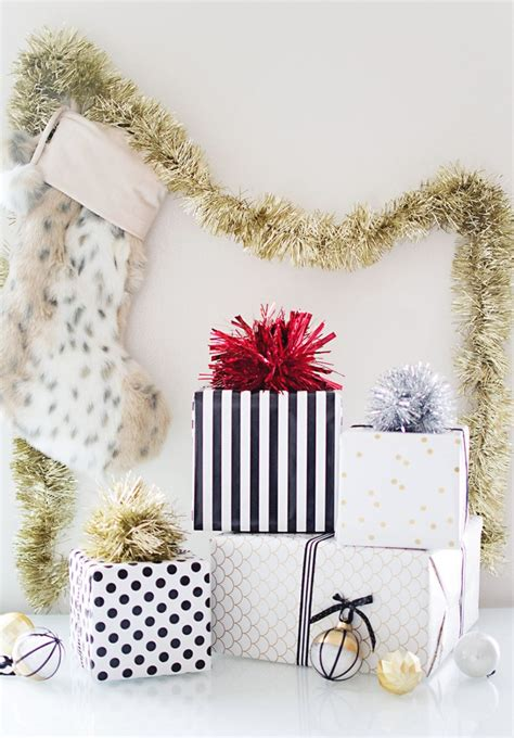 diy sparkly holiday gift toppers pottery barn