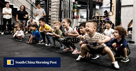 kids gym  children working   fitness centres  build strength improve  movement