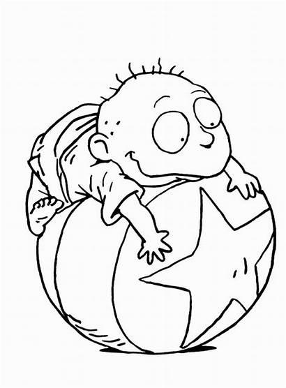 Coloring Pages Cartoon Characters Rugrats Printable Character