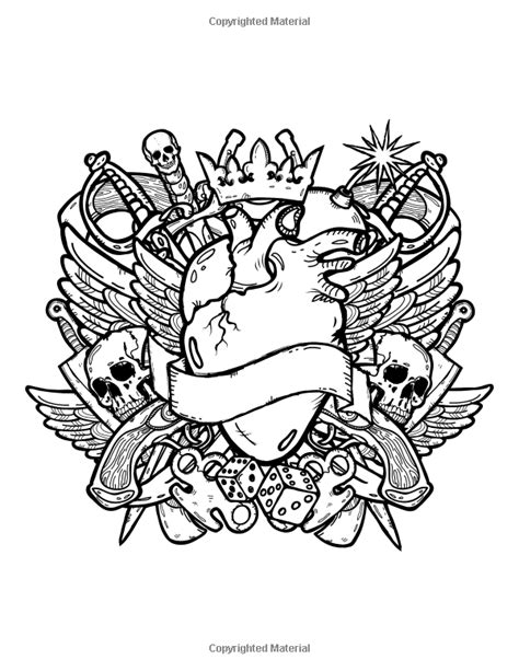 Coloring Books for Grown Ups: Tattoo Coloring Book