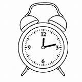 Clock Alarm Coloring Drawing Twelve Template Preschooler Sketch Printable Oclock Getcolorings Face Digital Getdrawings Place sketch template
