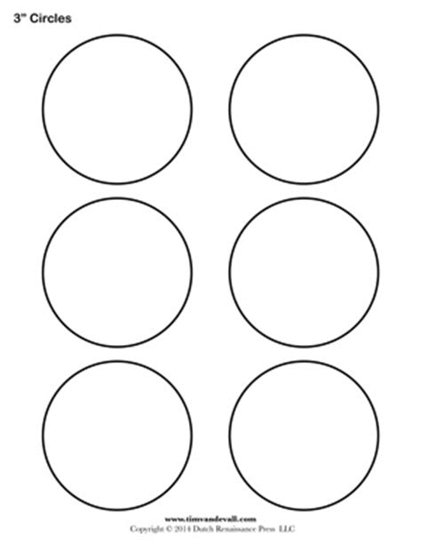 Circle Template 7 Inch Tim 39 S Printables Circle Templates Blank Shape Templates Free Printable Pdf