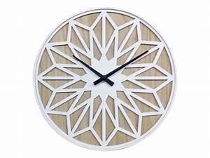 Conforama Deco Murale : horloge 60 cm rosace coloris blanc vente de horloge conforama ~ Teatrodelosmanantiales.com Idées de Décoration