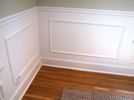 Inexpensive Way To Do Raised Wainscoting  Chair Molding