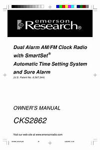 Emerson Research Cks2862 Owner U0026 39 S Manual Pdf Download