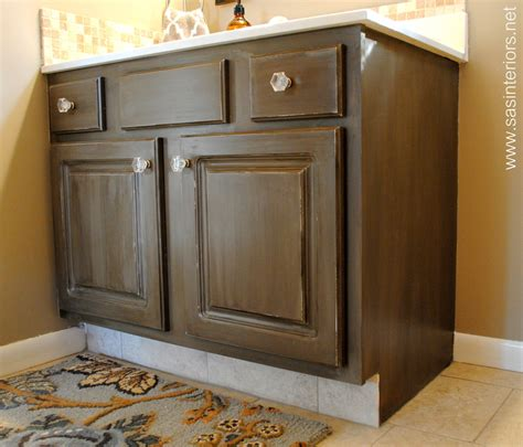 how to glaze cabinets how to glaze a cabinet using stain burger