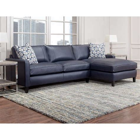 navy blue sofa and loveseat griffith top grain leather sectional navy blue in 2019