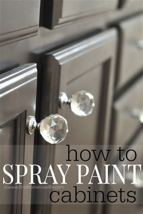 spray paint cabinets  home love life