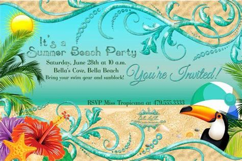 Beach Party Invitation Template Elegant 12 Beach Party