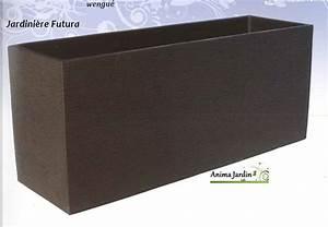 Jardiniere Plastique Gros Volume : jardini re futura 90x40 wengue en b ton cir grandon ~ Dailycaller-alerts.com Idées de Décoration