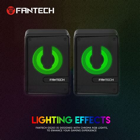 fantech gs computer speaker mini rgb lighting speaker