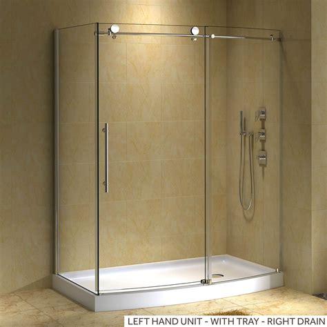 58quot x 30quot sloan corner shower enclosure with arched front