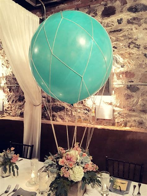 These Turned Out Amazing Hot Air Balloon Centerpiece