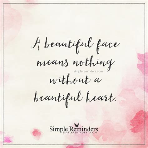 beautiful heart  beautiful face means