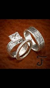 love this set this is it bells will be ringing With western wedding rings