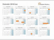Feiertage 2018 Iran Kalender & Übersicht