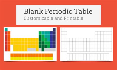 blank periodic table  elements customize  print