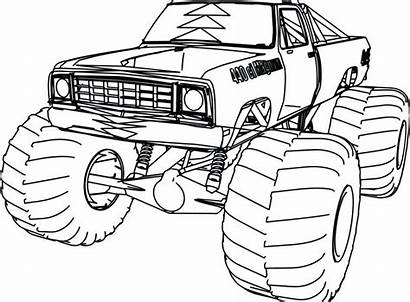 Coloring Truck Pages Monster Dodge 4x4 Trucks