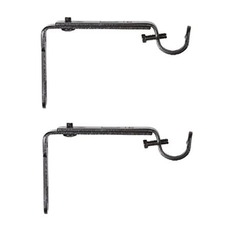Adjustable Drapery Rods - umbra adjustable bracket for drapery rod set of 2 black