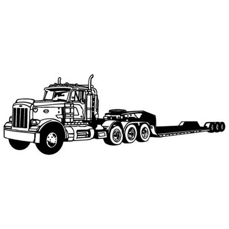 amazing long tail semi truck coloring page  print truck coloring pages