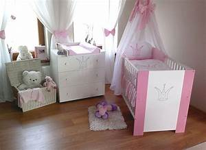 Baby Betten Set : krone rosa komplett set babybett kinderbett wickelkommode babyzimmer baby bett ebay ~ Frokenaadalensverden.com Haus und Dekorationen