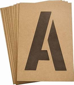 hy ko st 6 heavy duty number and letter stencil kit 6 in With letter stencil kit