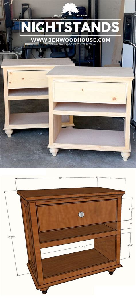 build diy nightstand bedside tables woodworking plans furniture  helpful hints