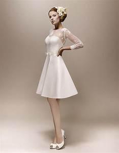 Robe De Mariee Courte : robe de mari e courte 2015 toutes les plus belles robes de mari e courtes de 2015 vintage ~ Preciouscoupons.com Idées de Décoration