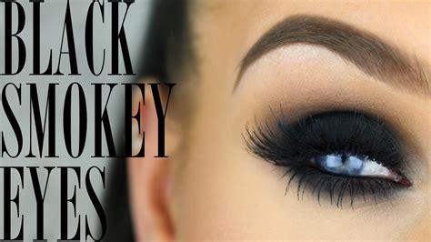 perfect black smokey eye makeup tutorial youtube