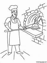 Baker Coloring Boulanger Drawing Coloriage Printable Imprimer Dessin Boulangerie Professions Profession Line Colorier Dessins sketch template