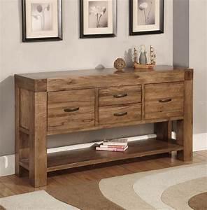santana oak console table With e w home furniture