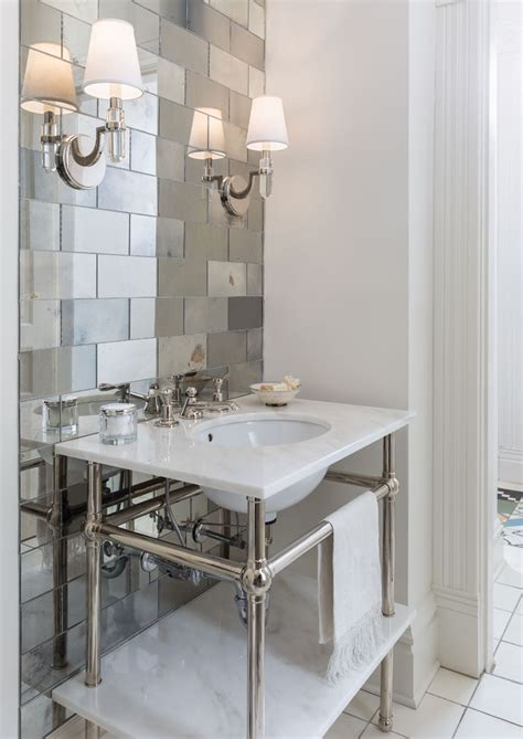Mirrored Tiles Bathroom by Magic Mirror On The Wall Midwest Home