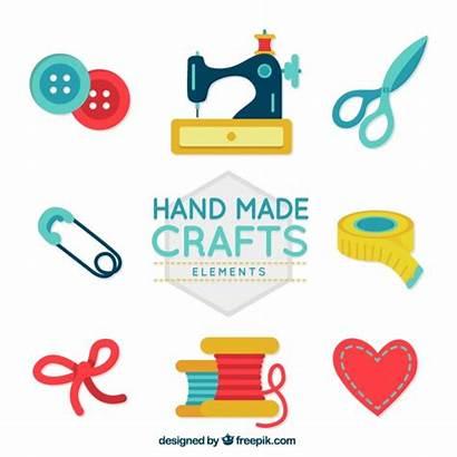 Vector Sewing Crafts Labels Craft Freepik Handcraft