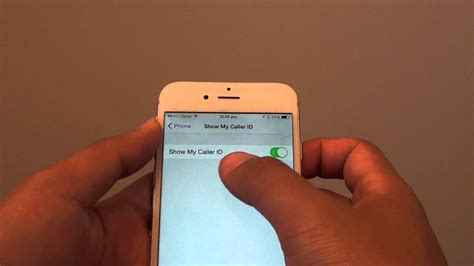 how to turn caller id on iphone iphone 6 how to show hide caller id number 21137