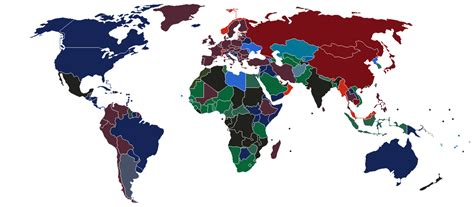 The Color Of Every Country's Passport, In One Map