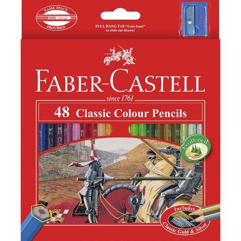 Faber Castell Classic Coloured Pencils 48 Pack   eBay