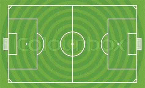 green football field vector template stock vector