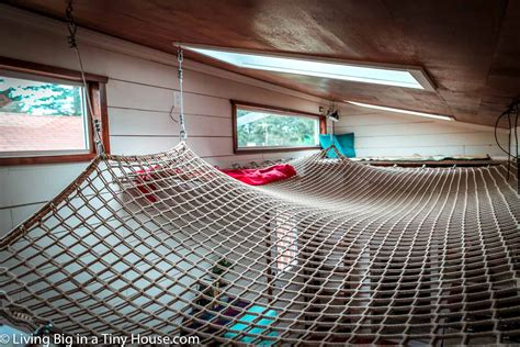 Amazing DIY Tiny House With Super Cool Loft Hammock